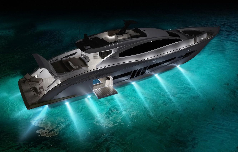 Photo wallpaper water, light, Boat
