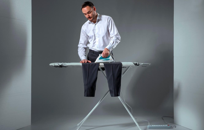 Photo wallpaper creative, male, pants, iron, Ironing