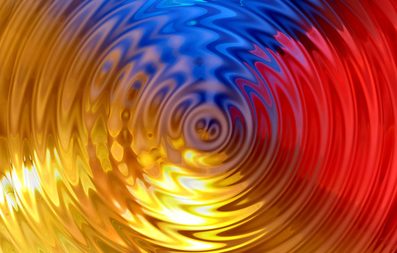Photo wallpaper water, circles, texture, ruffle, colorful, water, background, rings, ripples