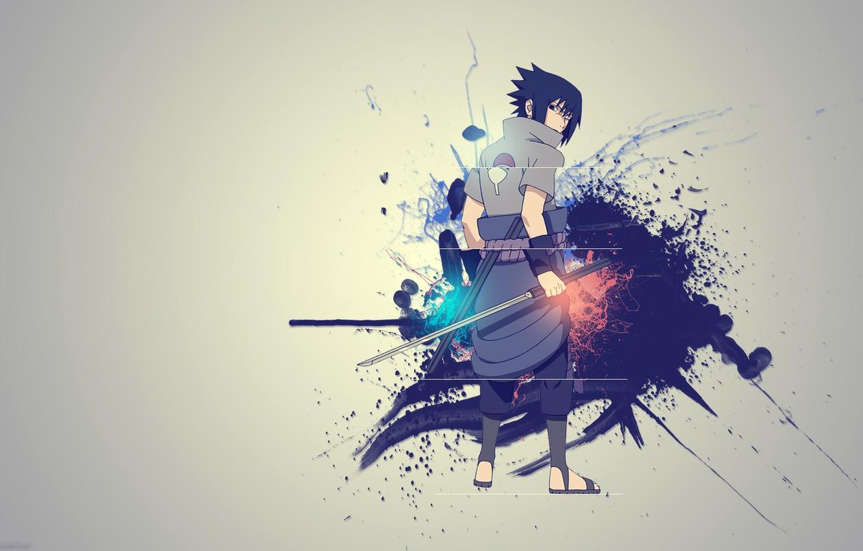 Photo wallpaper creative, sword, Sasuke, Naruto, Naruto, Sasuke Uchiha, Kusanagi