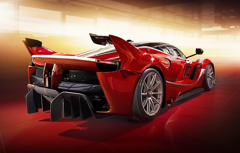 Photo wallpaper Ferrari, red, supercar, FXX K