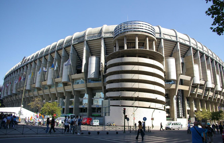 Photo wallpaper Spain, stadium, Santiago Bernabeu, Spain, Real Madrid, Real Madrid, Santiago Bernabeu, Creamy, Galacticos, Royal