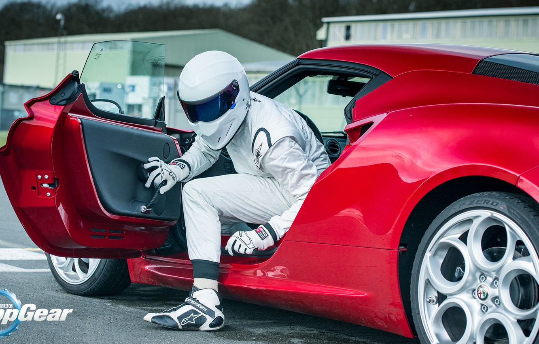 Photo wallpaper Helmet, Racer, Alfa, Romeo, Stig, The Stig, Top, Gear