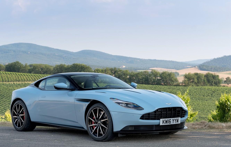 Photo wallpaper car, the sky, asphalt, Aston Martin, car, sky, wallpapers, DB11