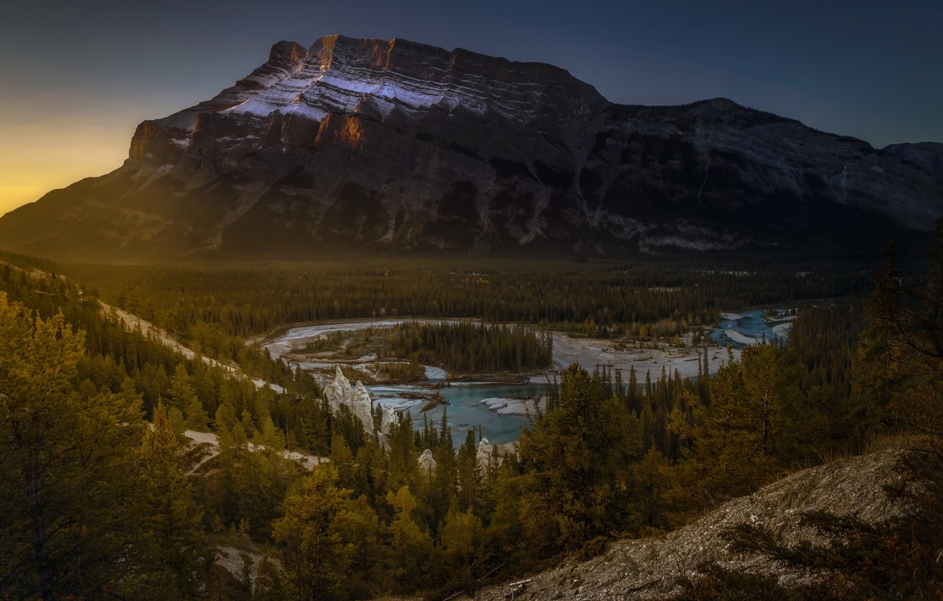 Photo wallpaper forest, nature, mountain, Canada, panorama