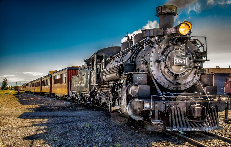 Photo wallpaper road, train, technique