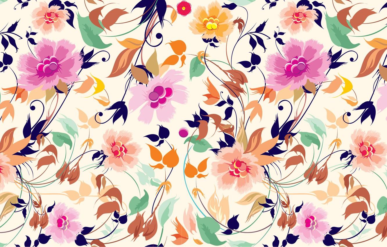 Photo wallpaper flowers, art, texture