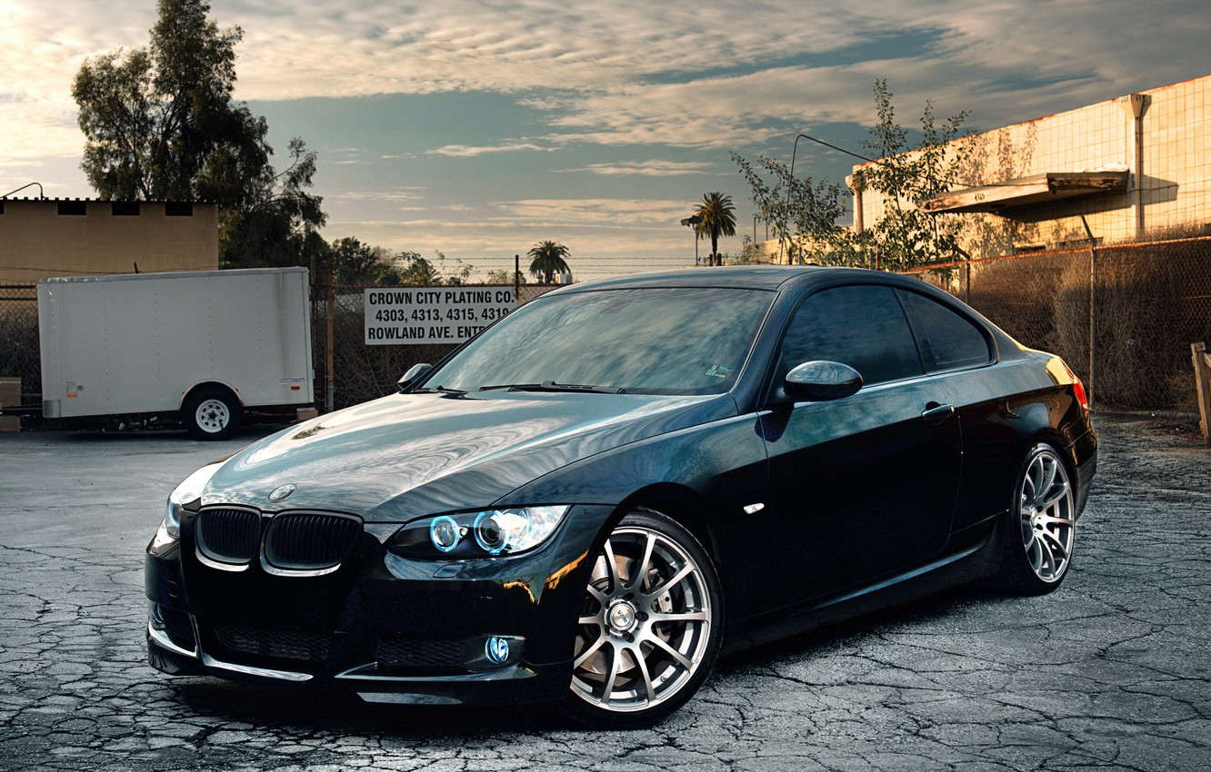 Photo wallpaper auto, bmw, black