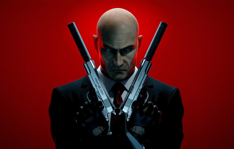Wallpaper Weapons Bald Tie Gloves Jacket Muffler Agent 47