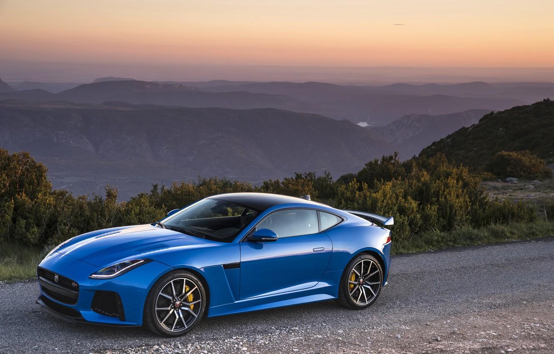 Photo wallpaper Jaguar, road, Coupe, F-Type, SVR