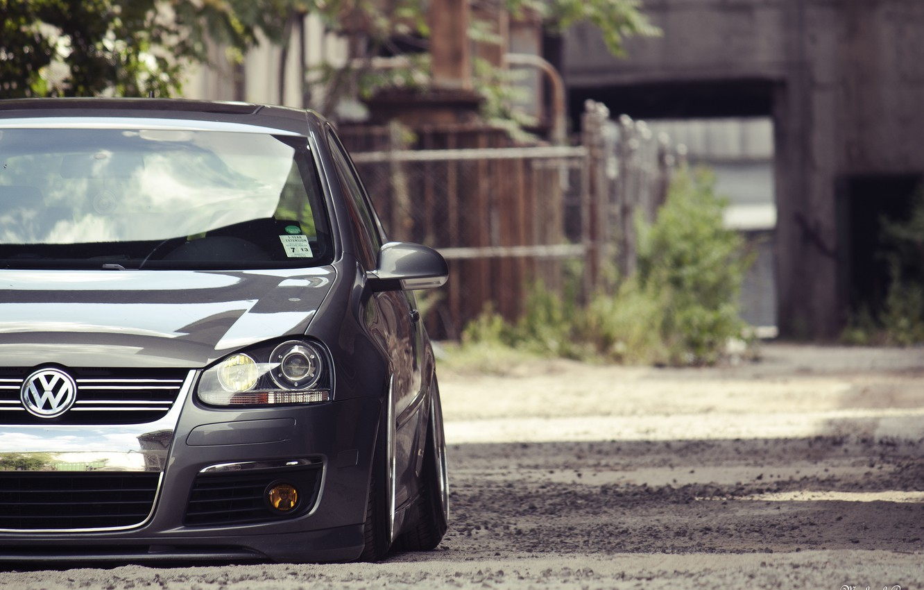 Photo wallpaper tuning, volkswagen, Golf, golf, the front, gti, low