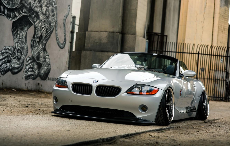 Photo wallpaper car, BMW, Roadster, tuning, rechange, bmw z4, hq Wallpapers, low ride