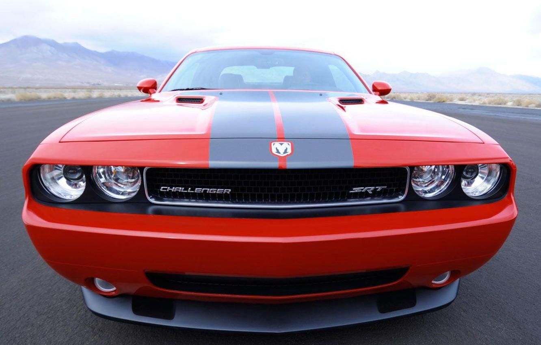 Photo wallpaper Red, Dodge, Challenger, srt