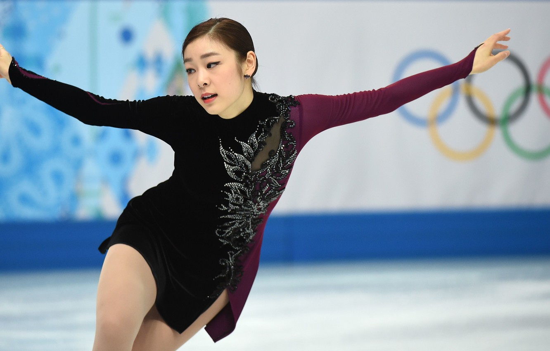 Wallpaper Girl Figure Yuna Kim Skating Corea Olimpic Images For Desktop Section Sport Download