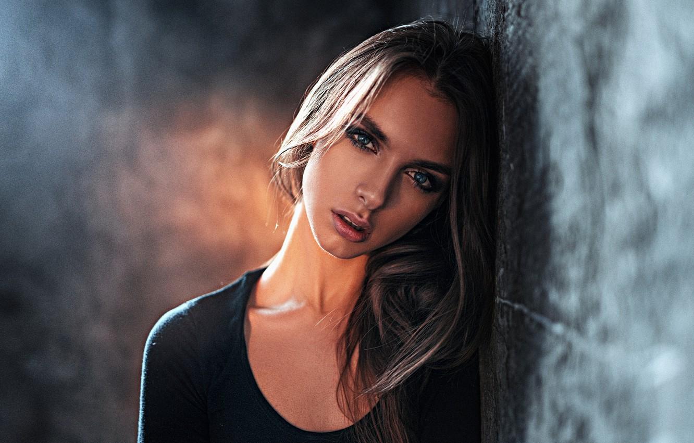 Photo wallpaper Girl, Look, Light, Portrait, Photoshoot, Studio, George Chernyadev, Victoria Vishnevetskaya