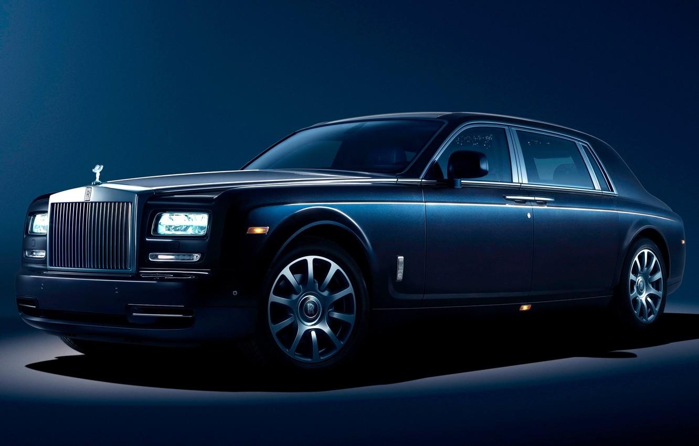 Photo wallpaper blue, Phantom, Rolls Royce