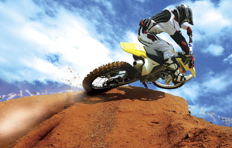 Photo wallpaper sport, motorcycle, motorcyclist, motoekstrim