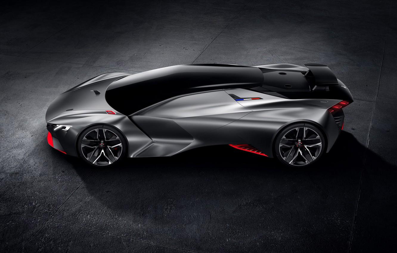 Photo wallpaper Concept, Peugeot, supercar, Vision, Peugeot, Gran Turismo, 2015