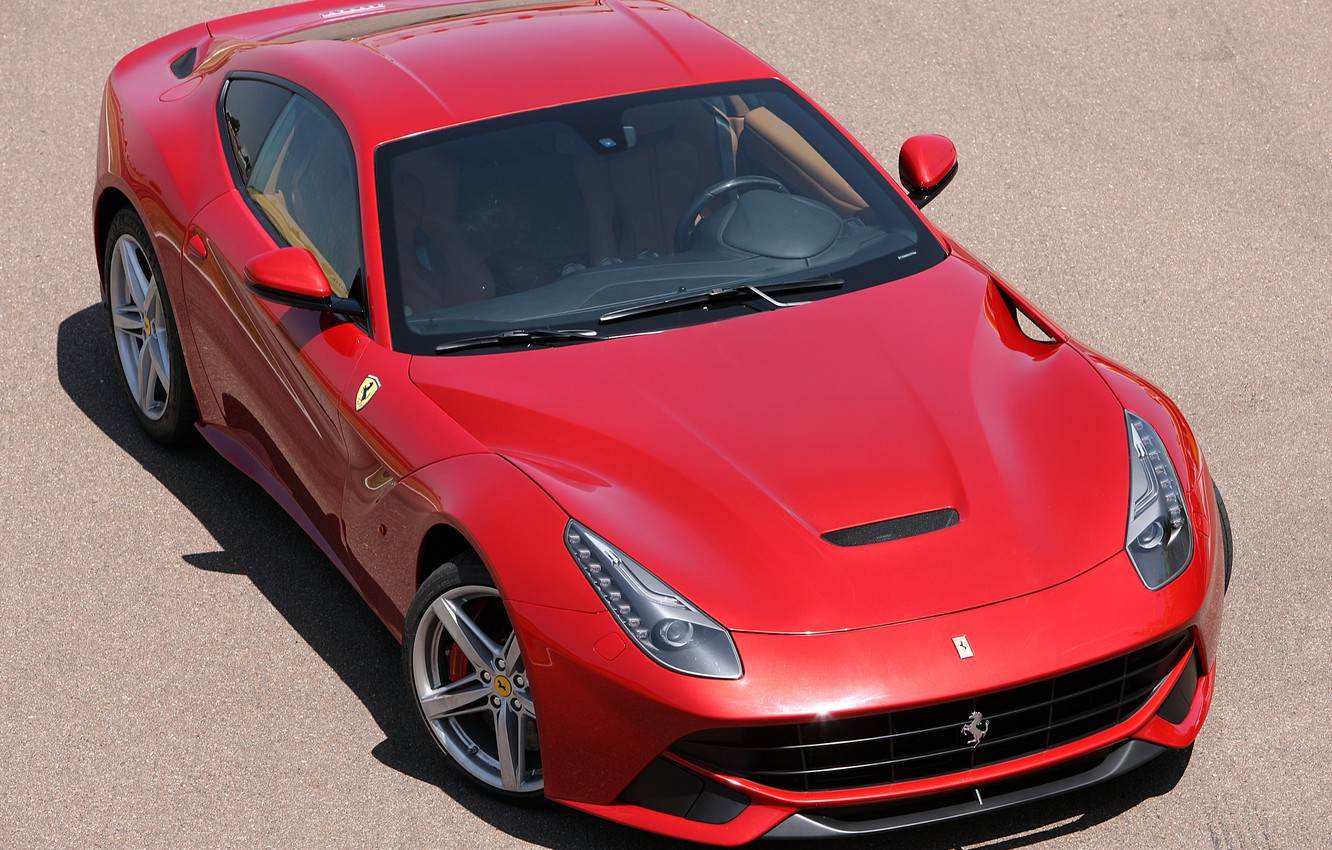 Photo wallpaper Ferrari, red, Sands, berlinetta, F12, the ferrari f12