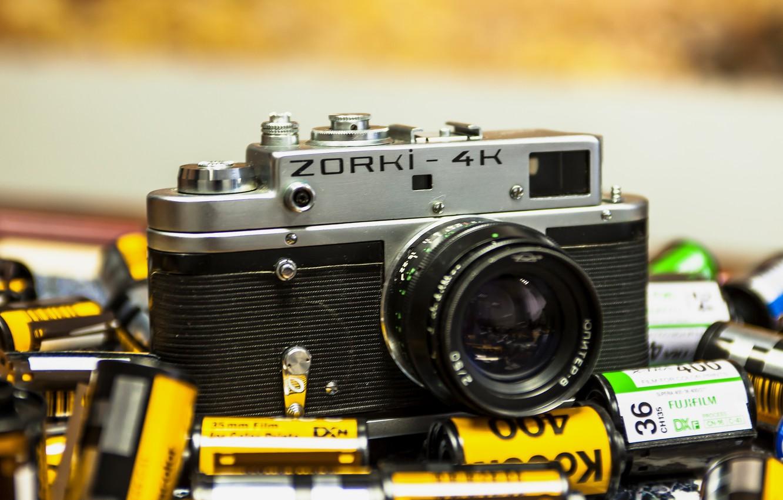Photo wallpaper camera, the camera, lens, ZORKI-4K
