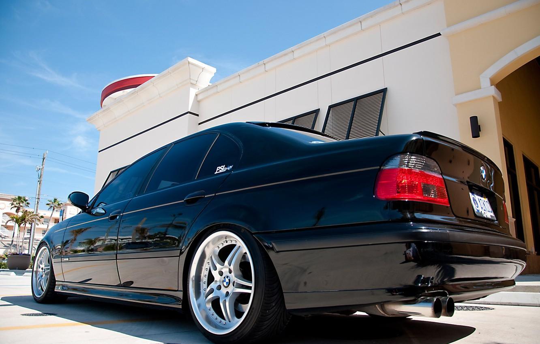 Photo wallpaper BMW, Sedan, drives, Black, E39