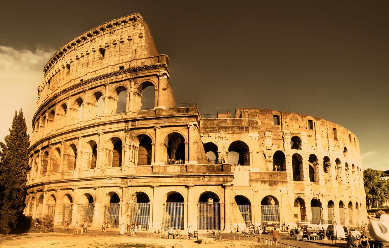 Wallpaper The City Old Colosseum Fabulous Look Ancient