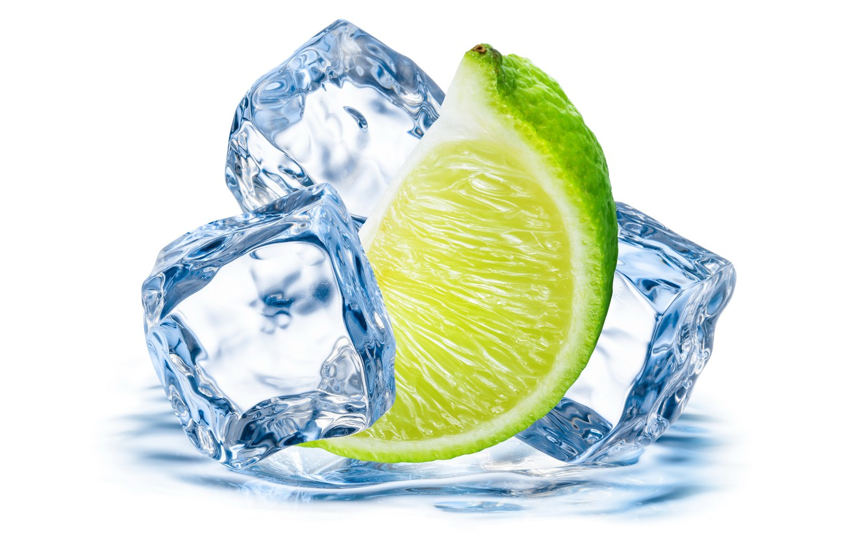 Photo wallpaper ice, lime, citrus