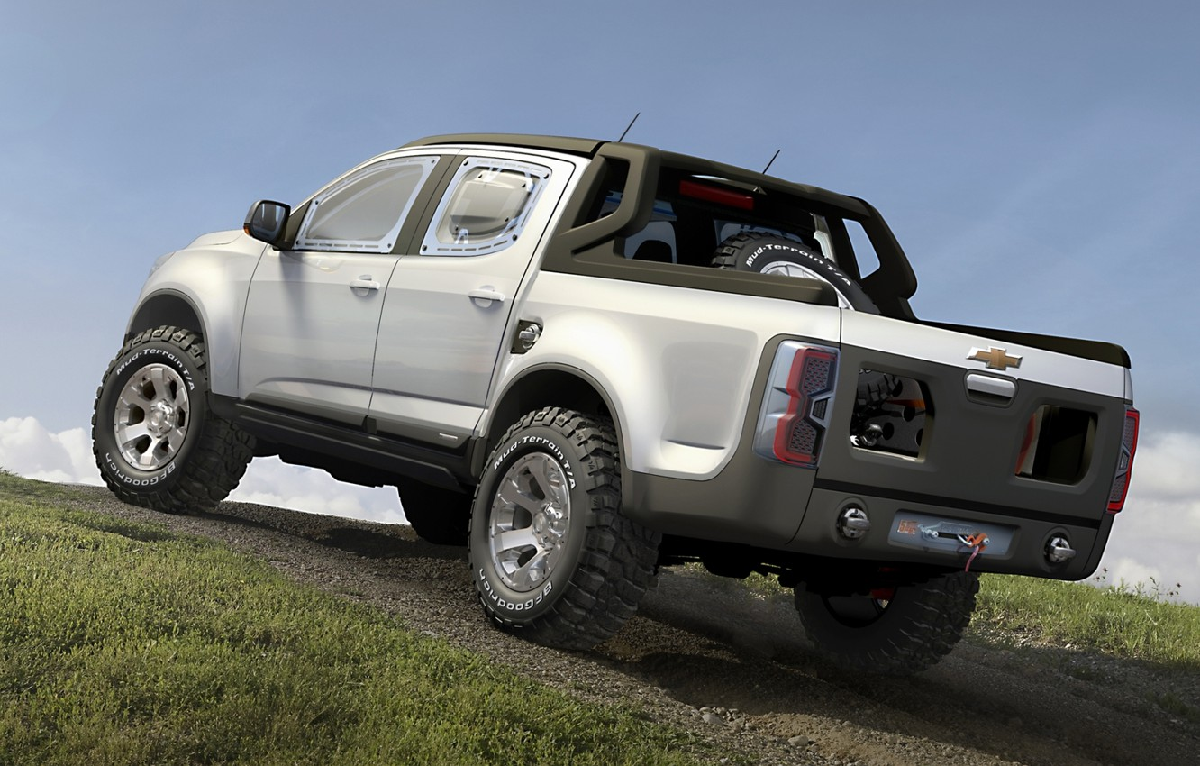 Wallpaper Concept The Sky Grey Chevrolet Hill Colorado Jeep