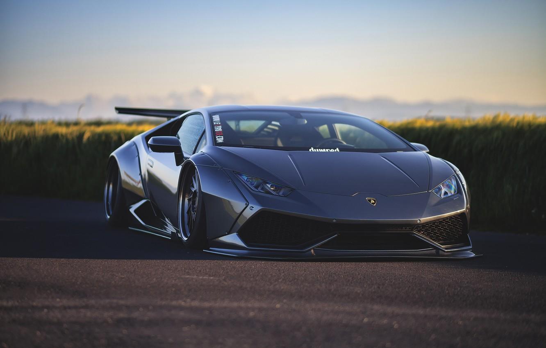 Photo wallpaper machine, tuning, Lamborghini, Huracan