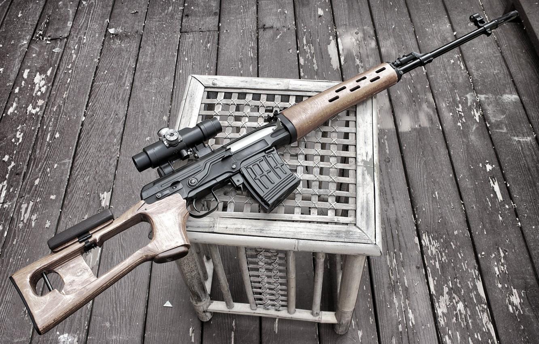 Photo wallpaper weapons, sight, rifle, sniper, Dragunov