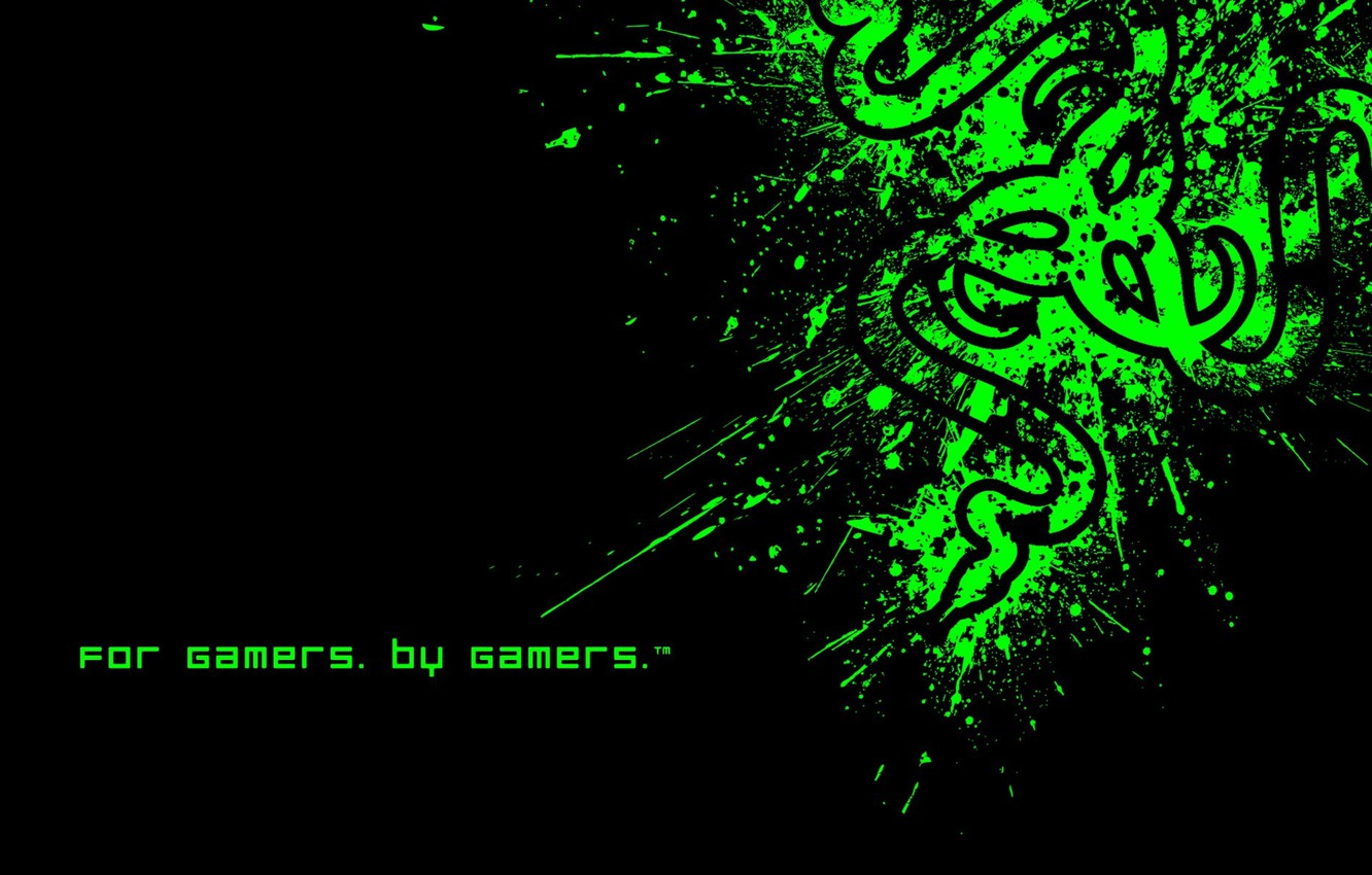Photo wallpaper Minimalism, Desktop Wallpaper, Razer Fragged, The logo