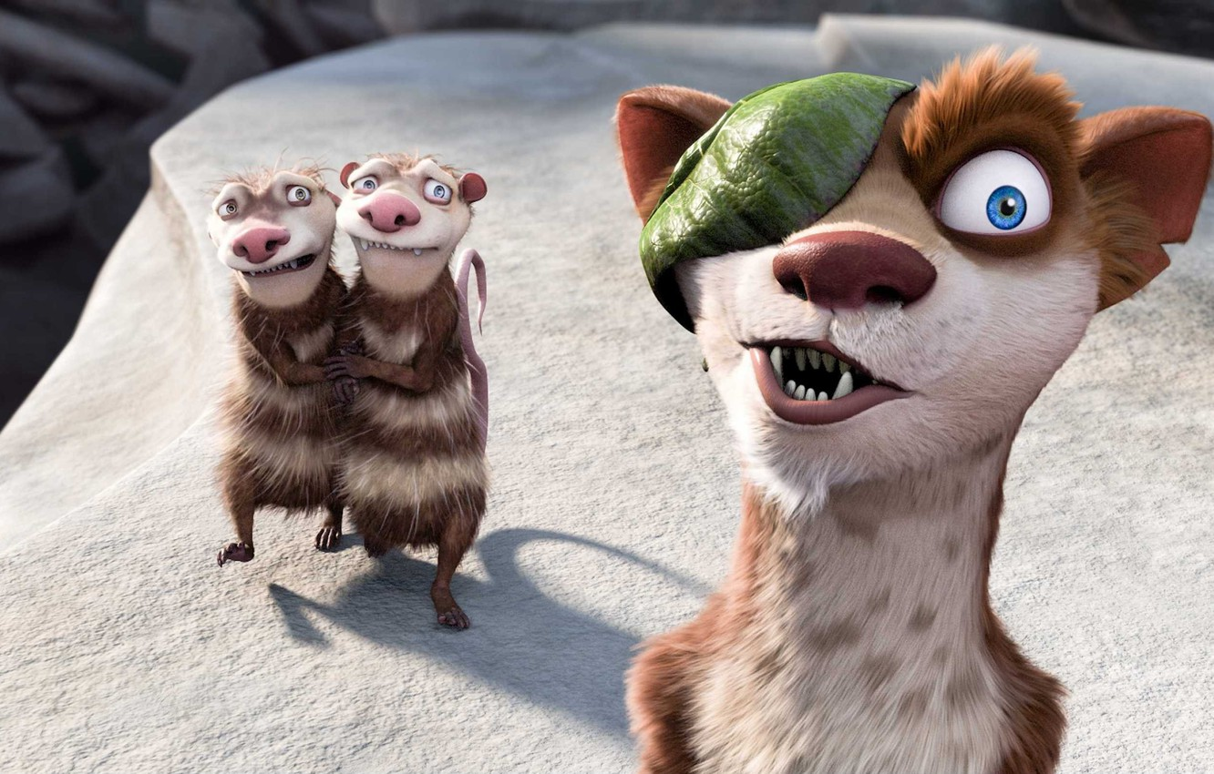 Photo wallpaper cartoon, ice age, Ice Age, weasel