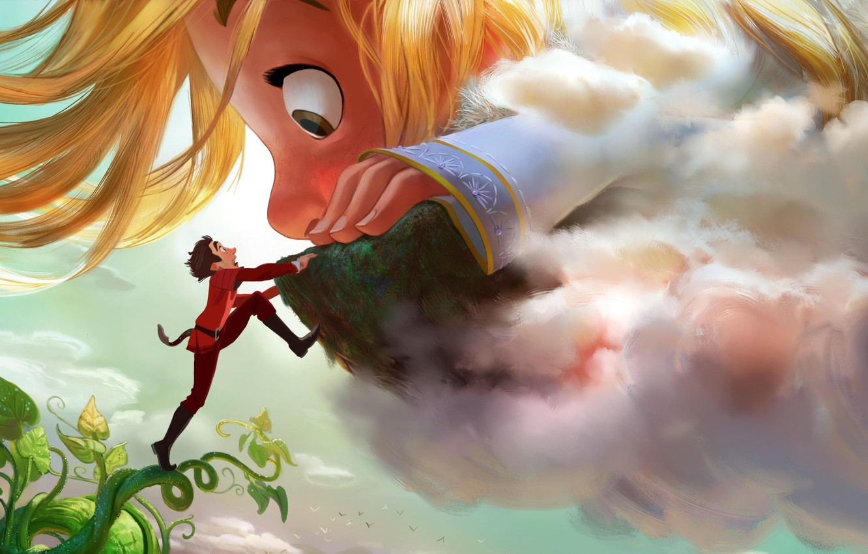 Wallpaper Cinema Disney Sky Long Hair Big Cloud Man Boy Cartoon Movie Face Blonde Beans Hand Walt Disney Film Images For Desktop Section Filmy Download