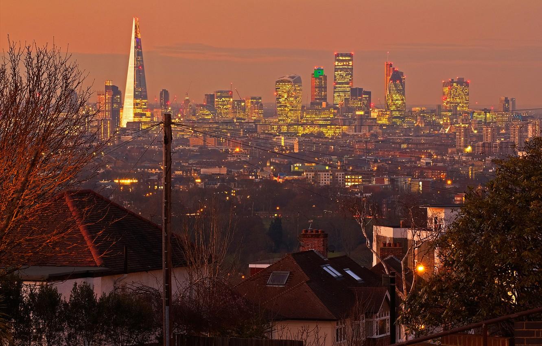 Photo wallpaper England, London, panorama