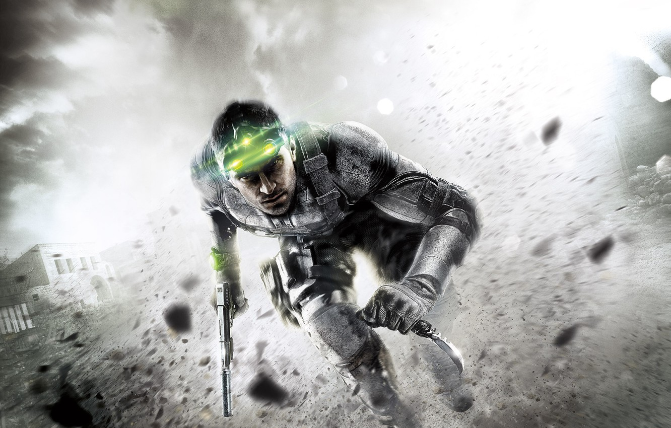 Wallpaper Green Knife Run Sam Fisher Splinter Cell
