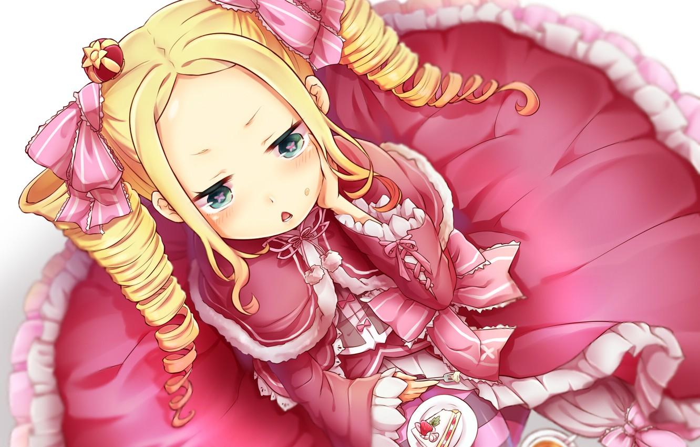 Photo wallpaper girl, cake, tails, Beatrice, Re: Zero kara hajime chip isek or Seikatsu