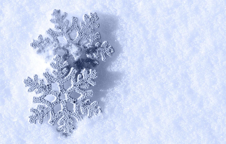 Photo wallpaper winter, snow, snowflakes, snowflakes