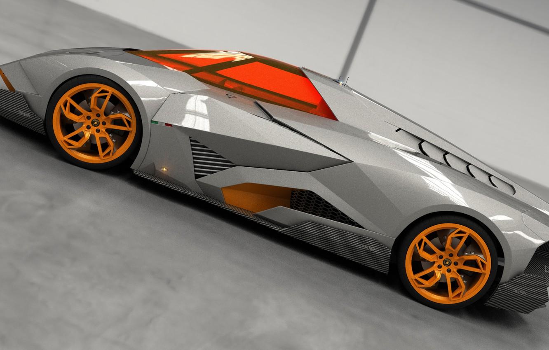 Photo wallpaper Concept, Auto, Lamborghini, View, The concept, Car, Side, 2014, Egoista
