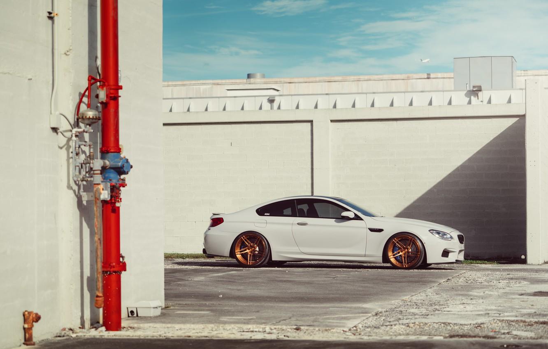 Photo wallpaper BMW, Car, White, Side, Wheels, ADV.1