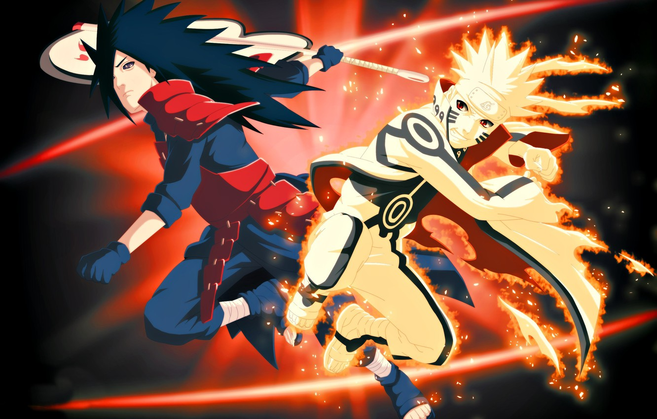 Photo wallpaper fire, flame, game, naruto, anime, fight, ninja, Uchiha, manga, shinobi, Uzumaki naruto, uchiha powers, cloak, …