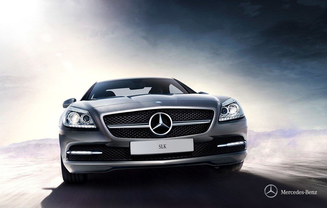 Photo wallpaper Mercedes-Benz, convertible, Mercedes, 2011, SLK, R172