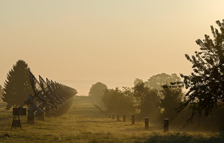 Photo wallpaper fog, morning, radar