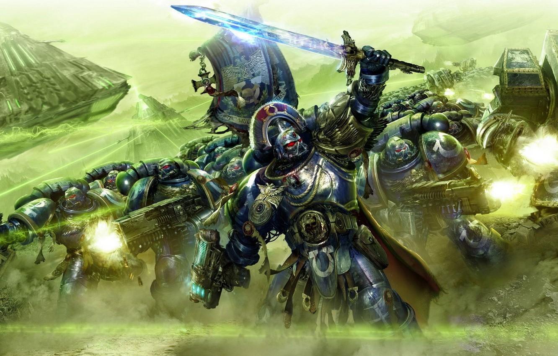 Photo wallpaper battle, Warhammer 40k, monolith, ultramarines, Ultramarines