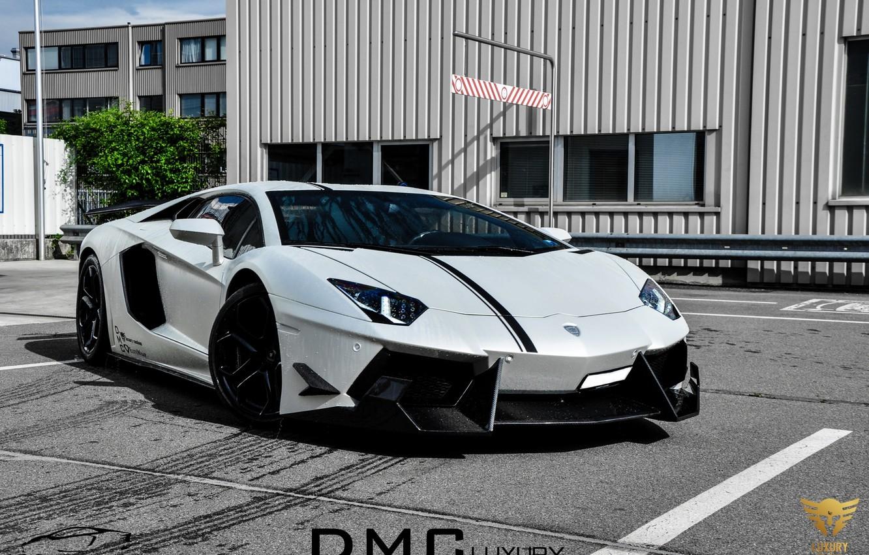 Photo wallpaper white, tuning, Lamborghini, car, LP700-4, Aventador, Lamborghini, aventador, DMC Luxury