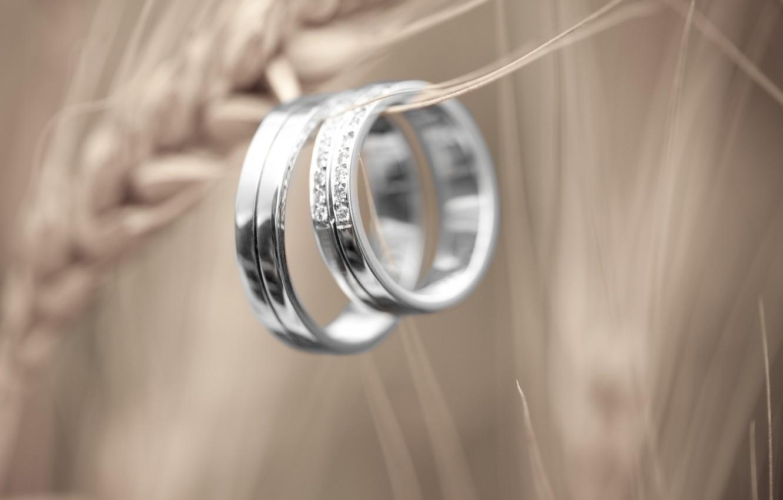 Photo wallpaper reflection, stones, ring