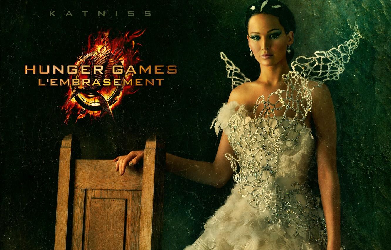 Photo wallpaper white, dress, wedding, Jennifer Lawrence, Jennifer Lawrence, Katniss Everdeen, Katniss Everdeen, The Hunger Games 2, …