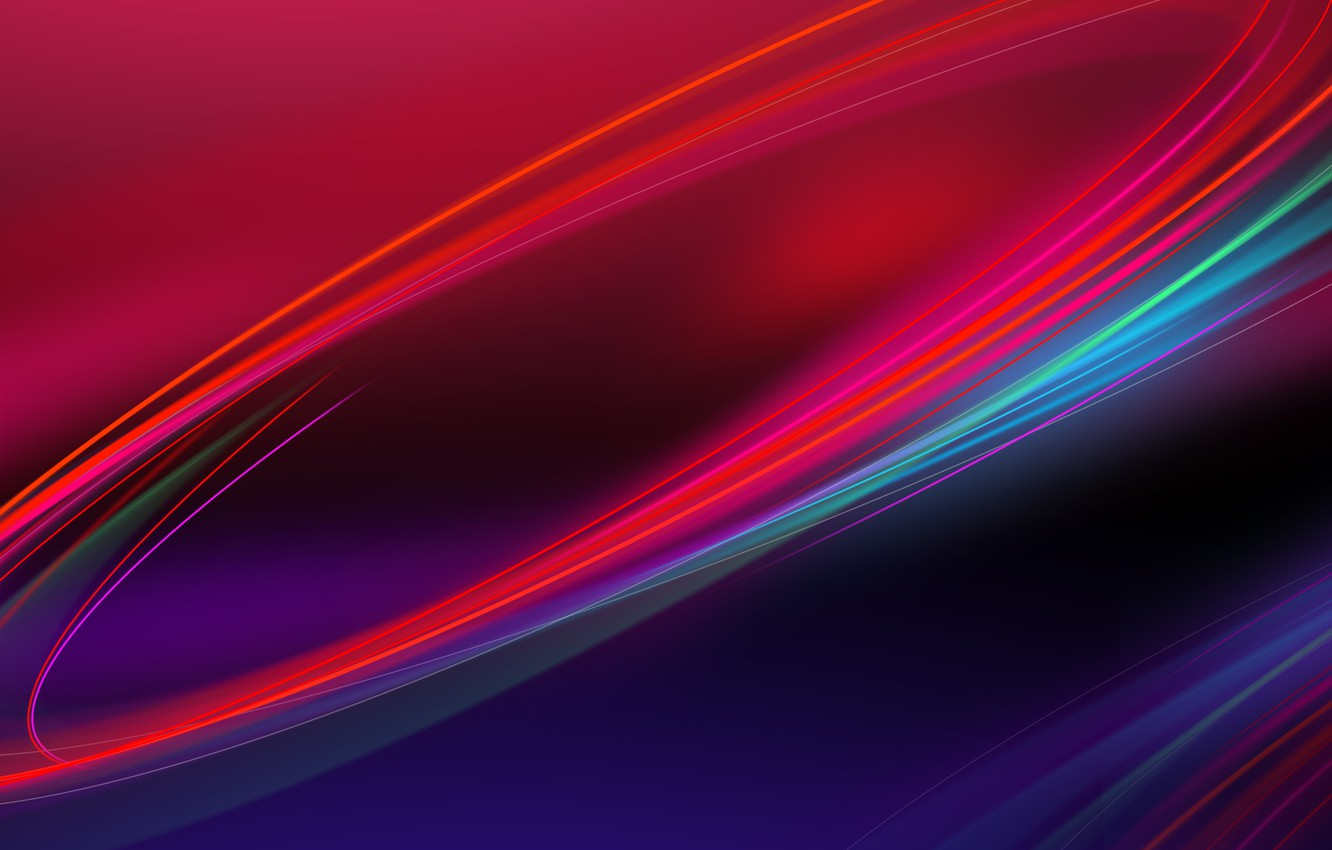 Photo wallpaper color, line, blue, red, Abstraction, Nubia UI
