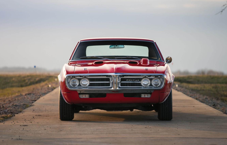 Photo wallpaper red, Pontiac, 1967, american, musclecar, firebird, 400