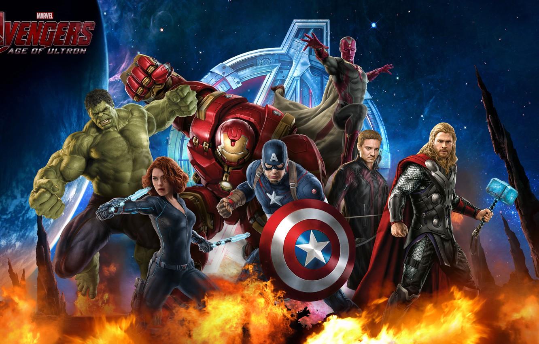 Photo wallpaper Scarlett Johansson, Hulk, Iron Man, Captain America, Thor, Black Widow, Natasha Romanoff, Hawkeye, Tony Stark, …