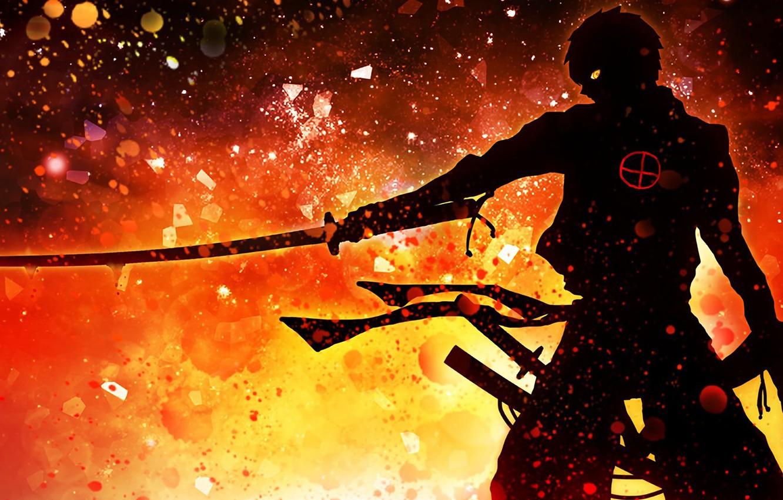 Photo wallpaper demon, wallpaper, fire, battlefield, red, flame, sword, gun, blood, game, armor, devil, smoke, weapon, war, …